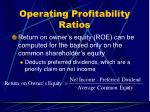 operating profitability ratios37
