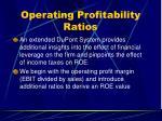 operating profitability ratios40