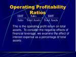 operating profitability ratios41