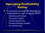 operating profitability ratios45