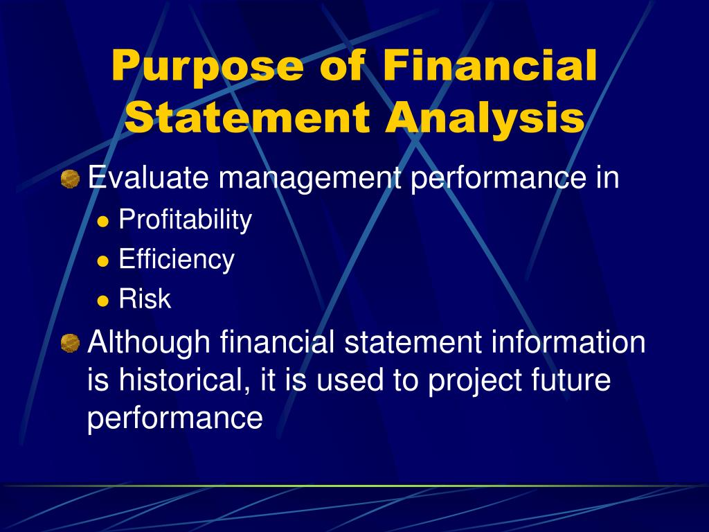 Purpose of Financial Statement Analysis