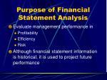 purpose of financial statement analysis