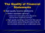 the quality of financial statements63