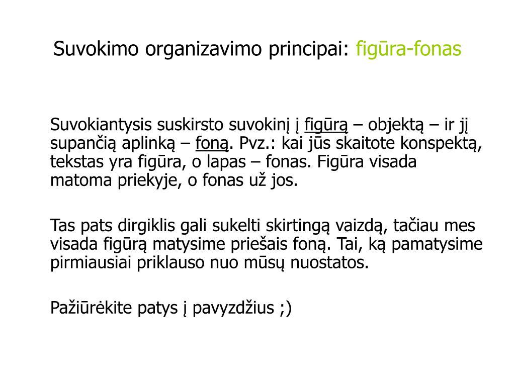 Suvokimo organizavimo principai