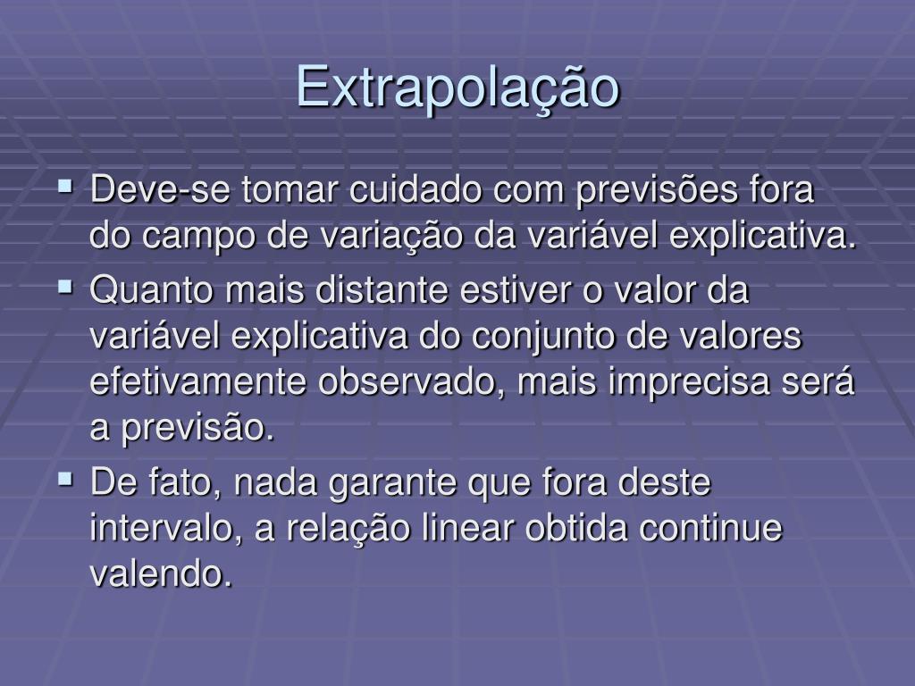 Extrapolação