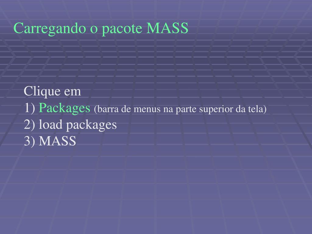 Carregando o pacote MASS