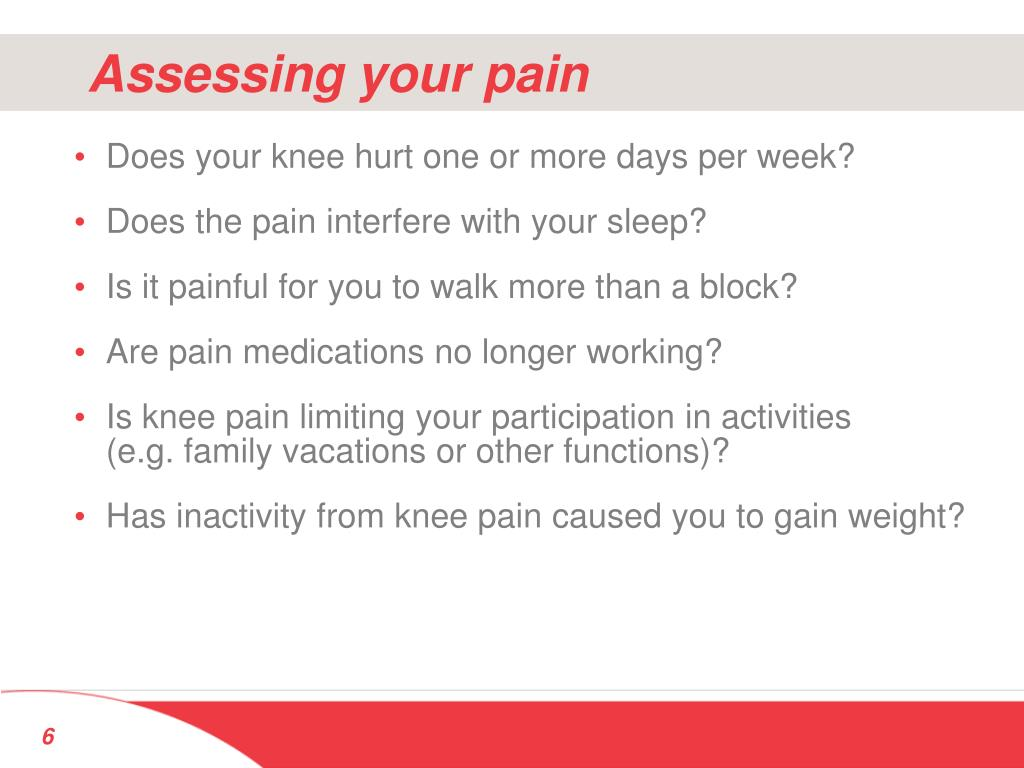 Assessing your pain