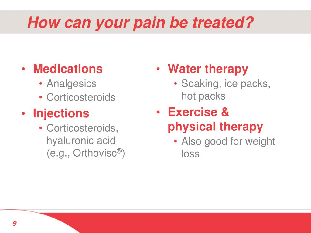 How can your pain be treated?