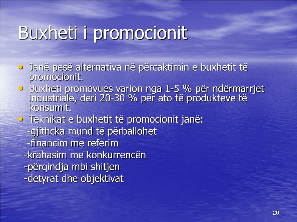 Buxheti i promocionit