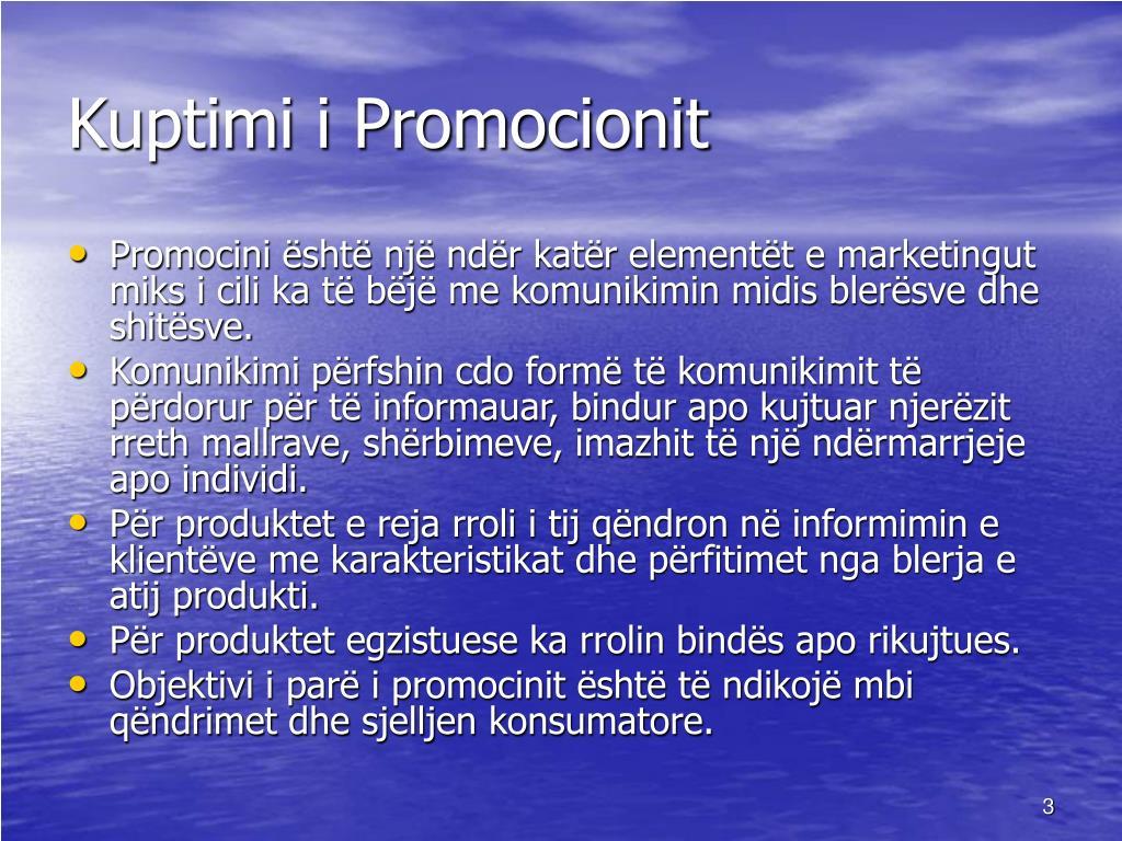 Kuptimi i Promocionit