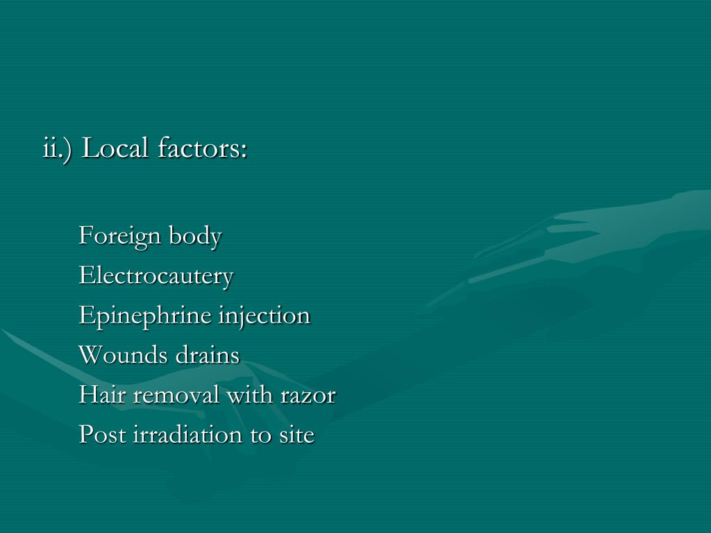 ii.) Local factors: