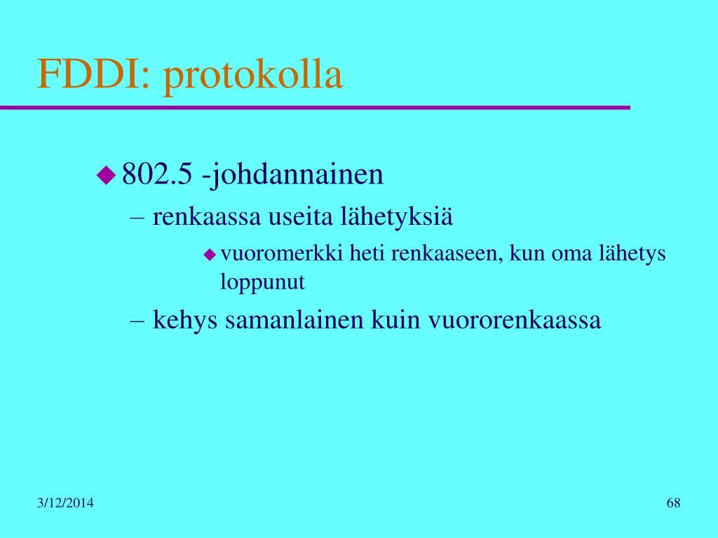 FDDI: protokolla