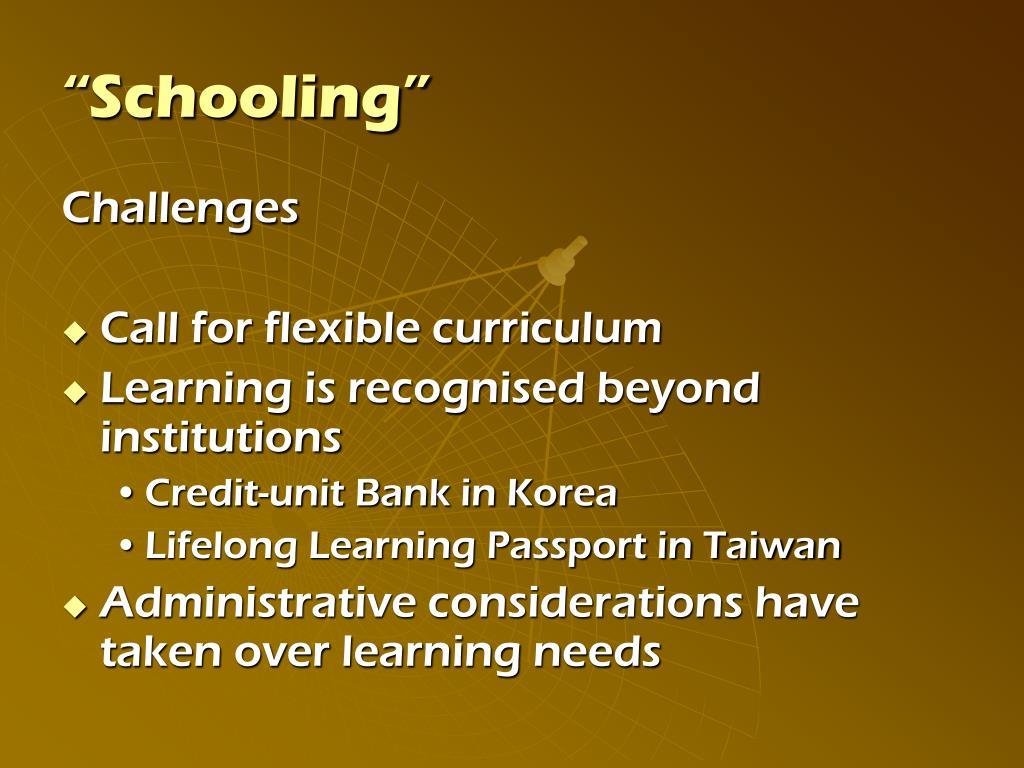 """""""Schooling"""""""