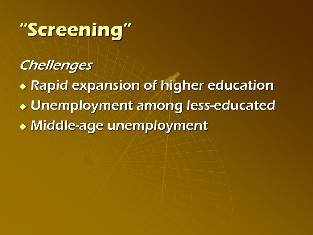 """Screening"""