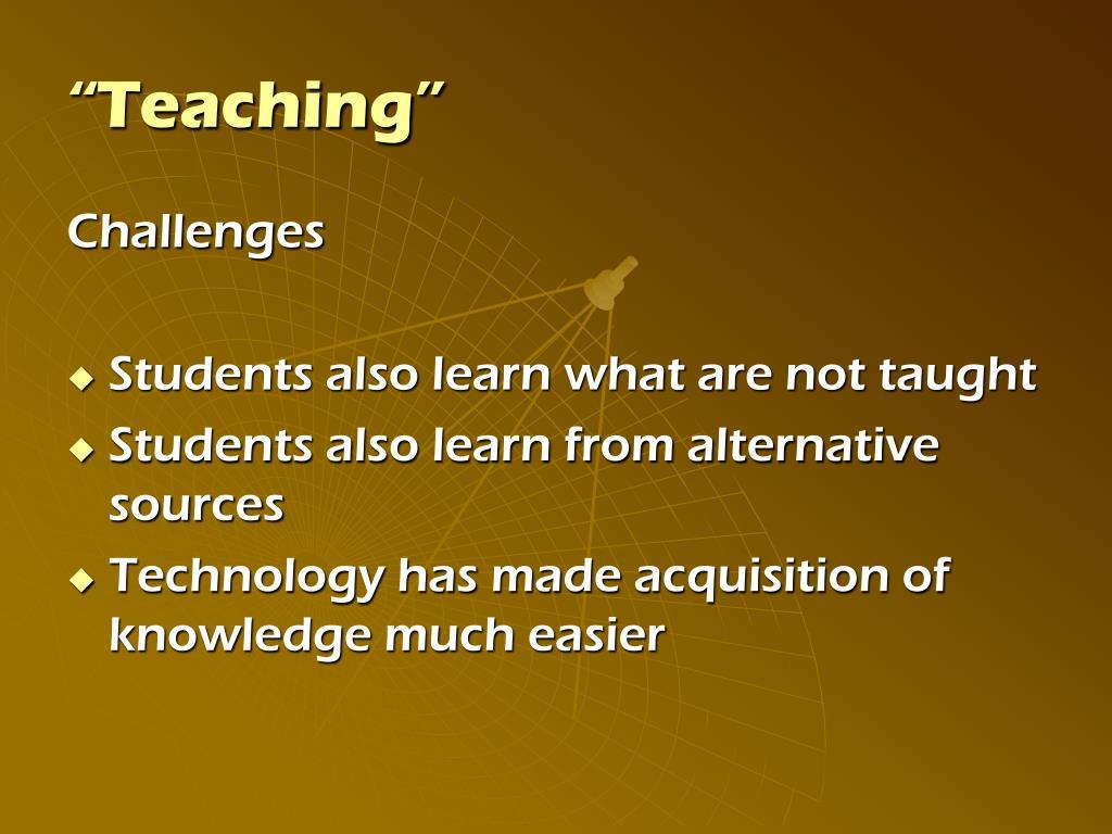"""Teaching"""