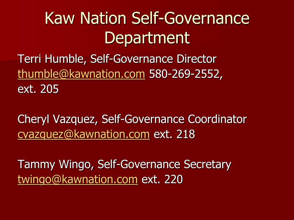 Kaw Nation Self-Governance Department