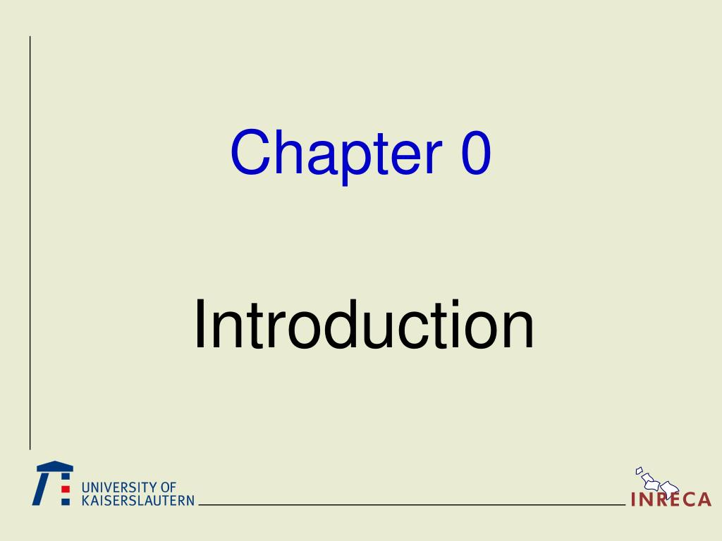 Chapter 0