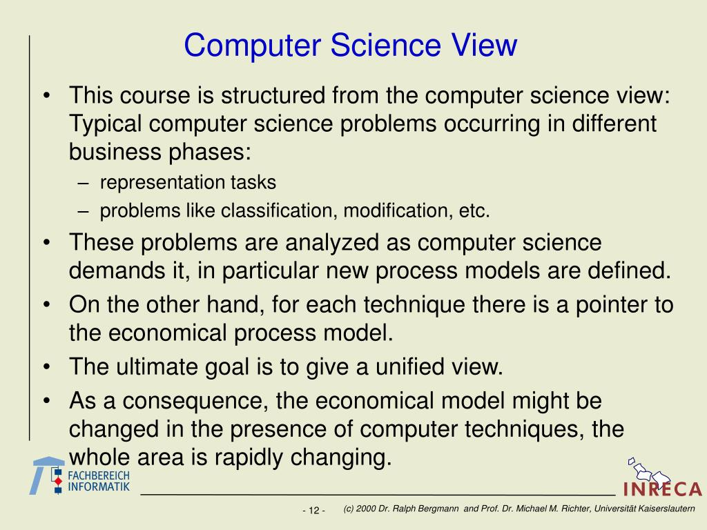 Computer Science View