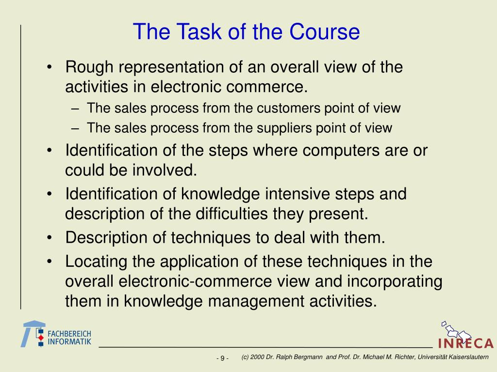 The Task of the Course