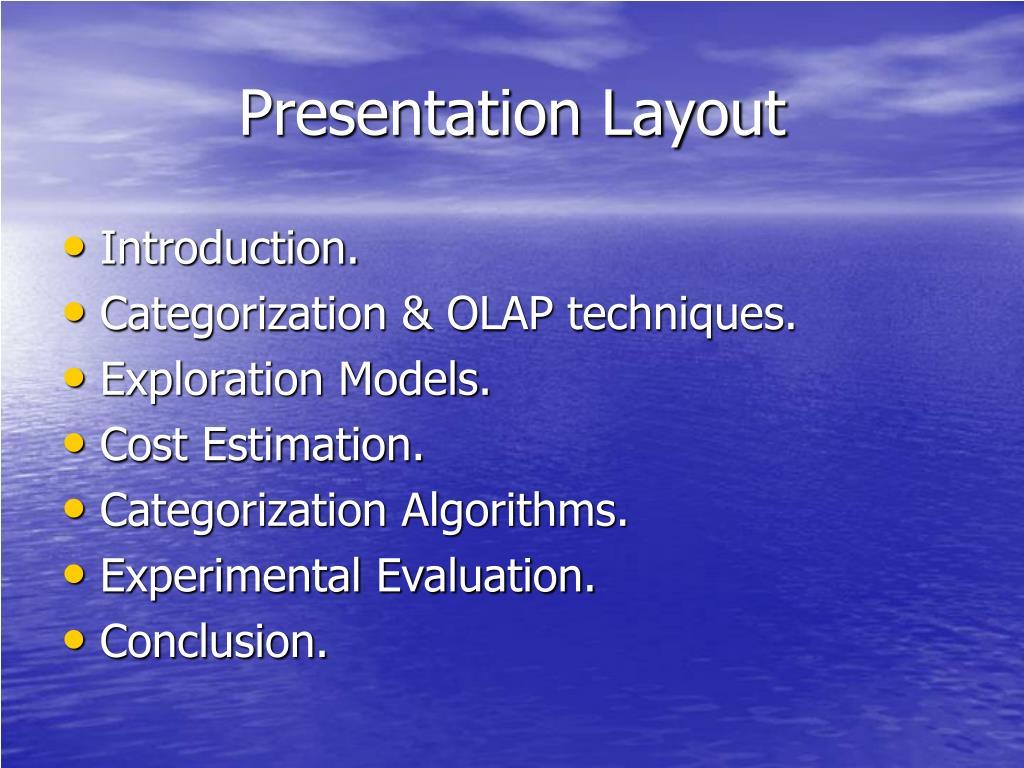 Presentation Layout