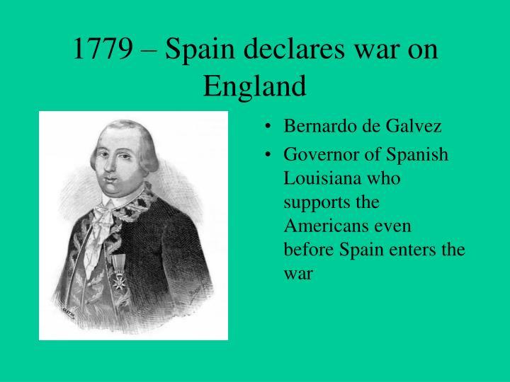 1779 – Spain declares war on England