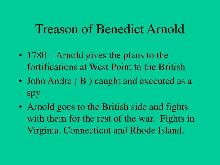 Treason of Benedict Arnold