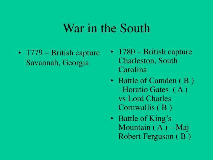 1779 – British capture Savannah, Georgia