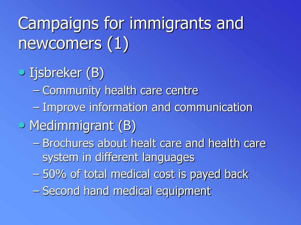 Campaigns for immigrants and newcomers (1)