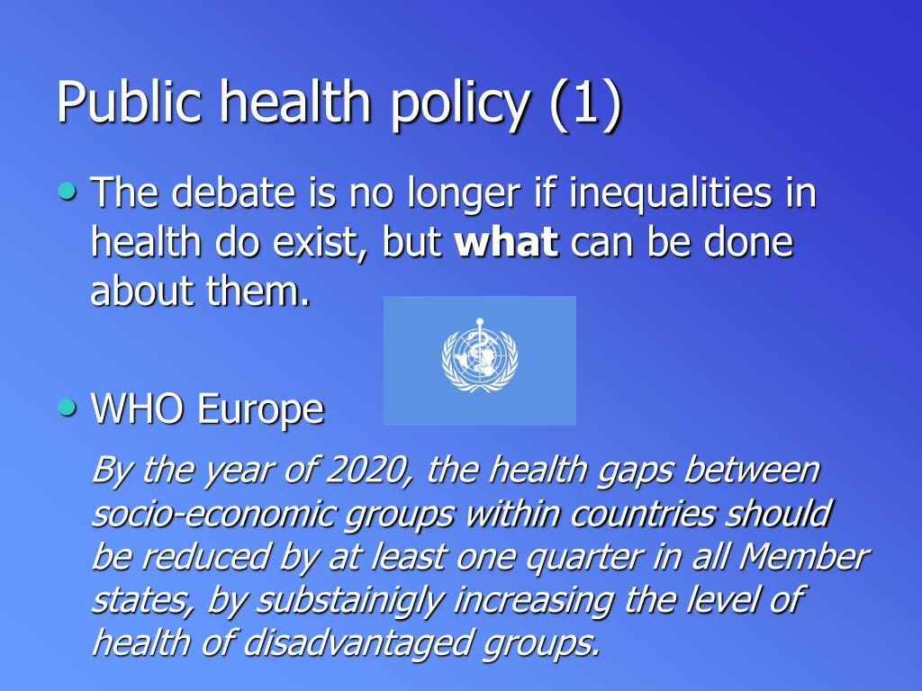 Public health policy (1)