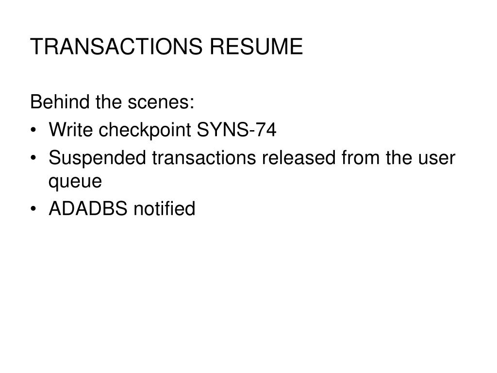 TRANSACTIONS RESUME