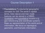 course description 1