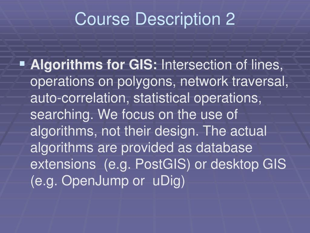 Course Description 2