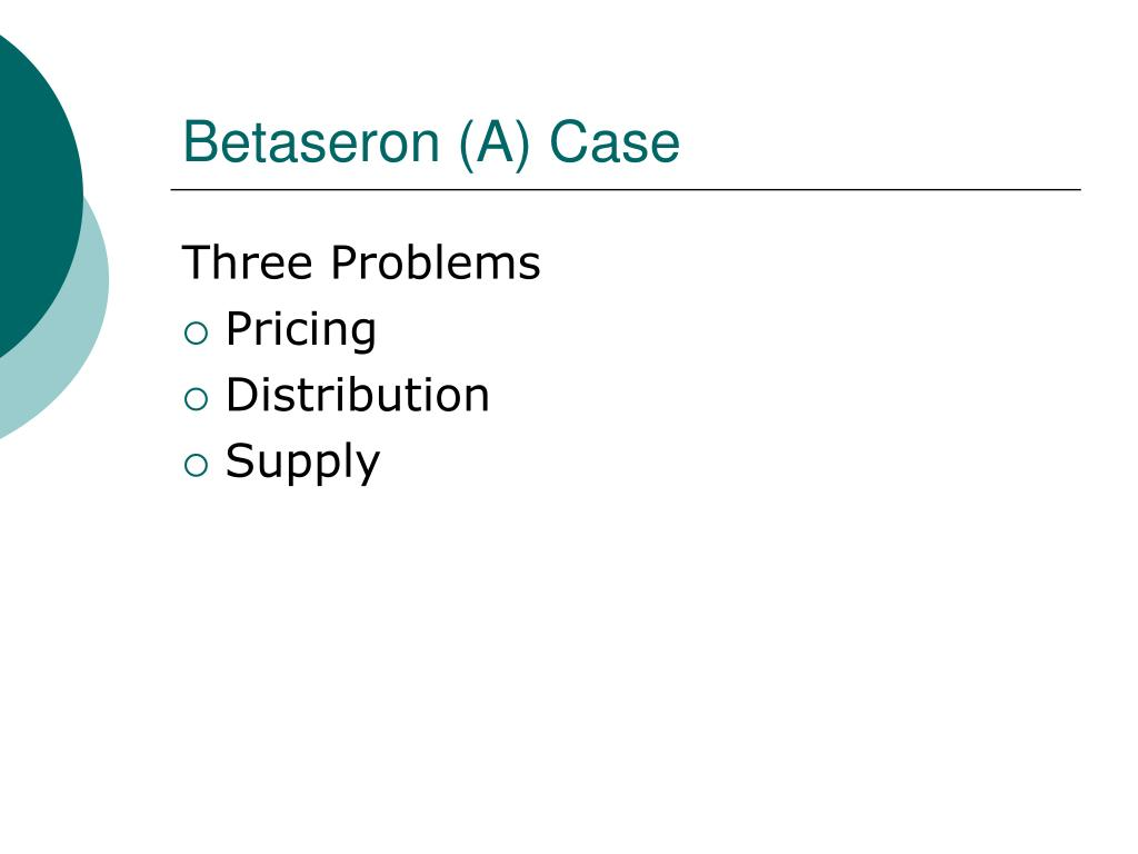 a case analysis of the betaseron decision Merits cases argument previews and analyses, opinion analyses, posts with links to argument transcripts and audio, and other news relating to cases granted for either the current term's docket or next term's docket.