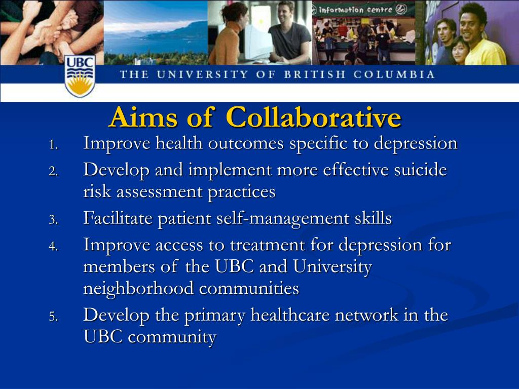 Aims of Collaborative