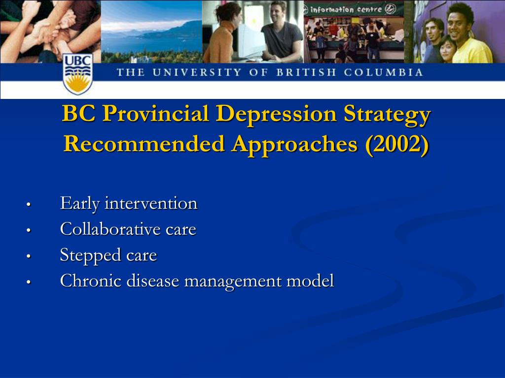 BC Provincial Depression Strategy Recommended Approaches (2002)