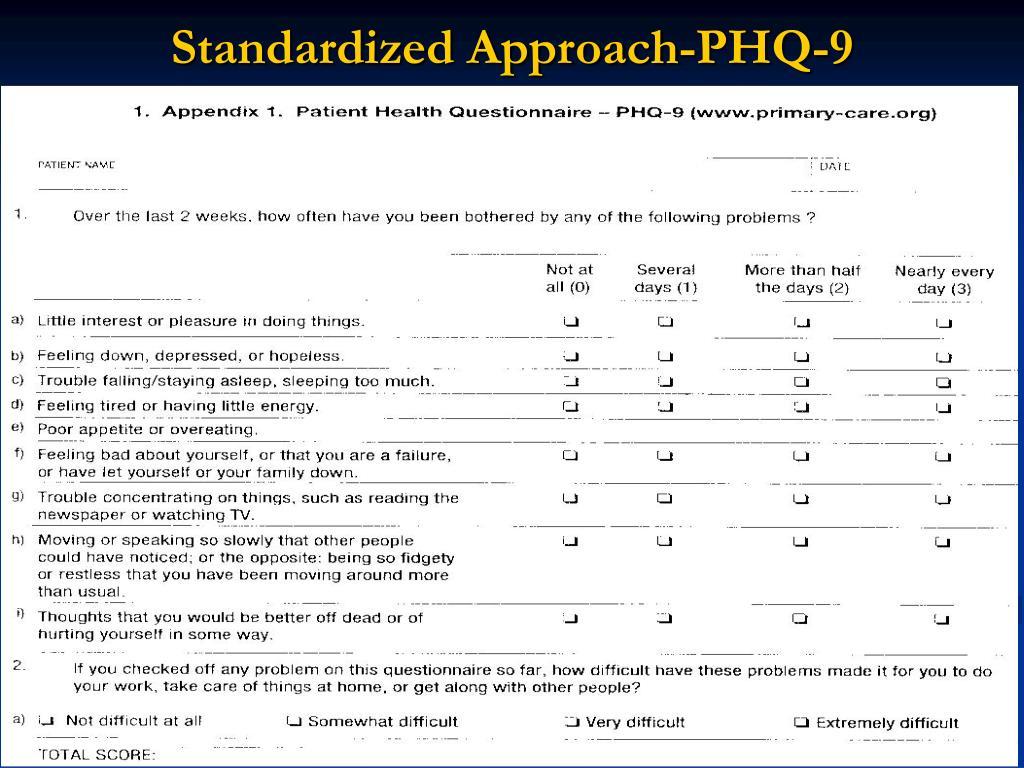 Standardized Approach-PHQ-9