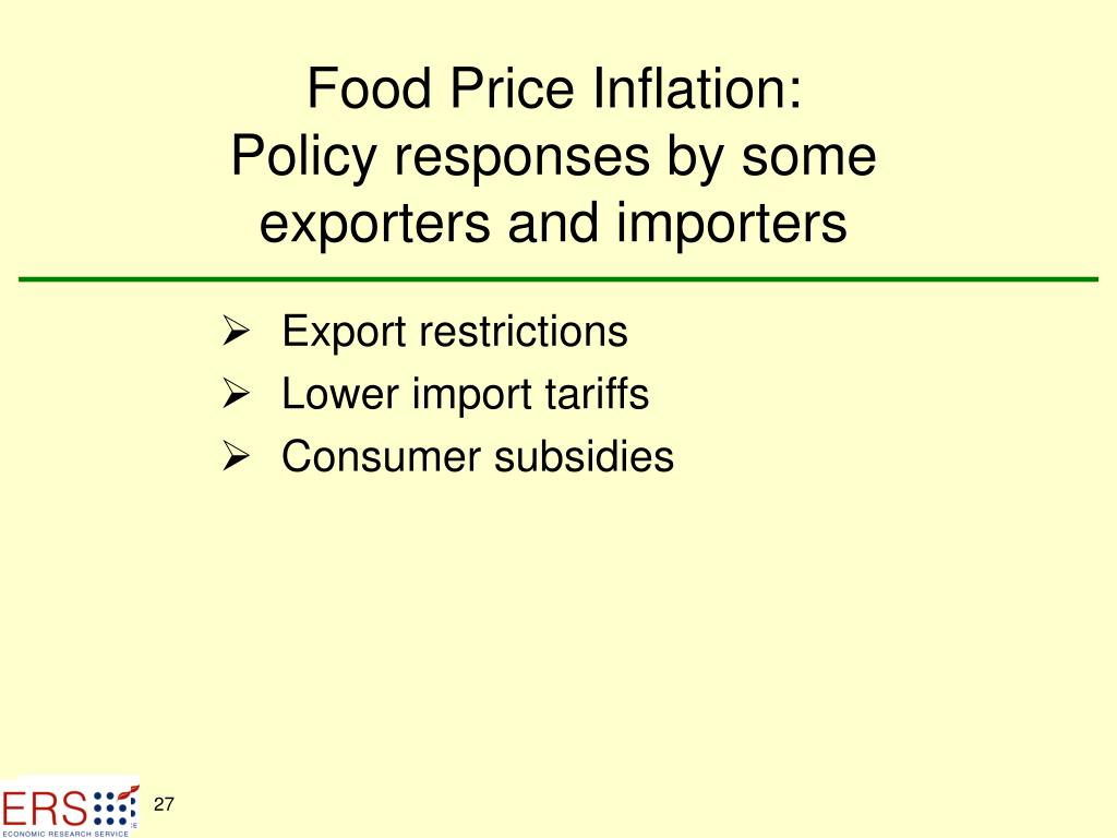 Food Price Inflation: