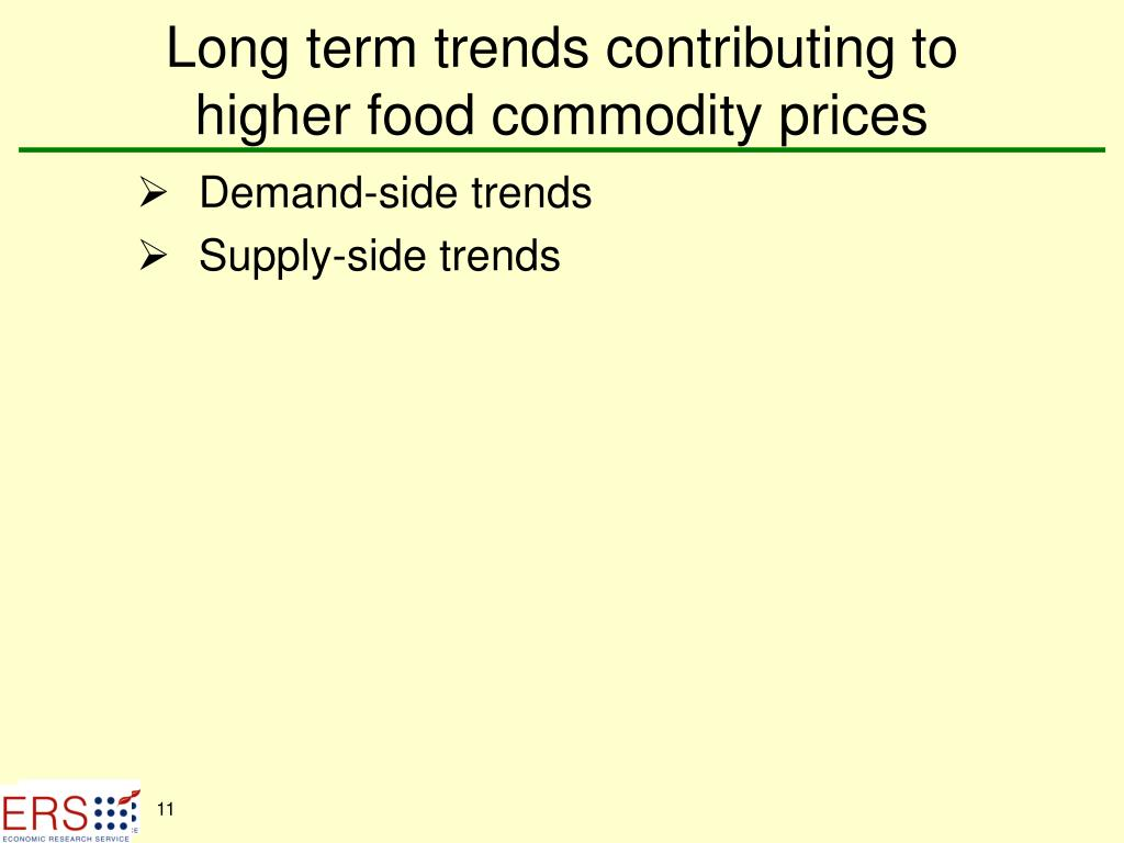 Long term trends contributing to