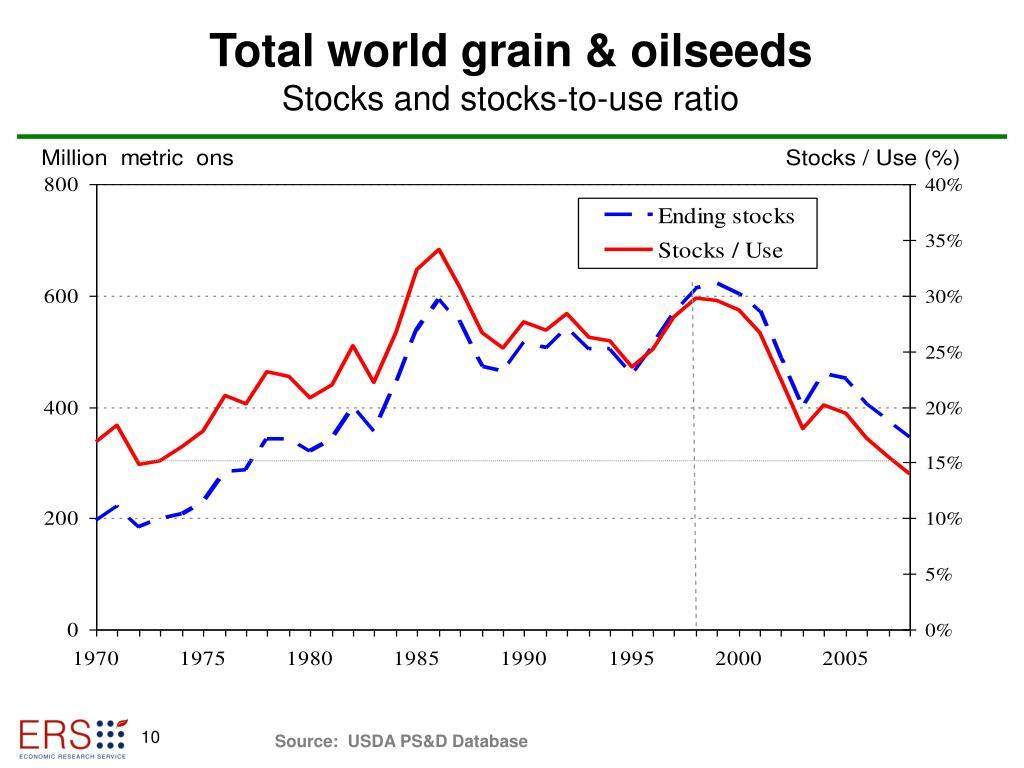 Total world grain & oilseeds