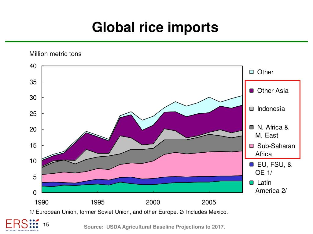 Global rice imports