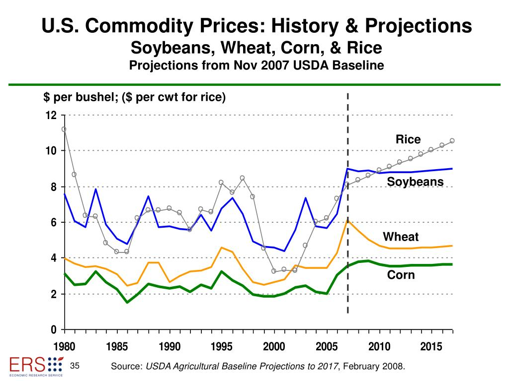 U.S. Commodity Prices: History & Projections