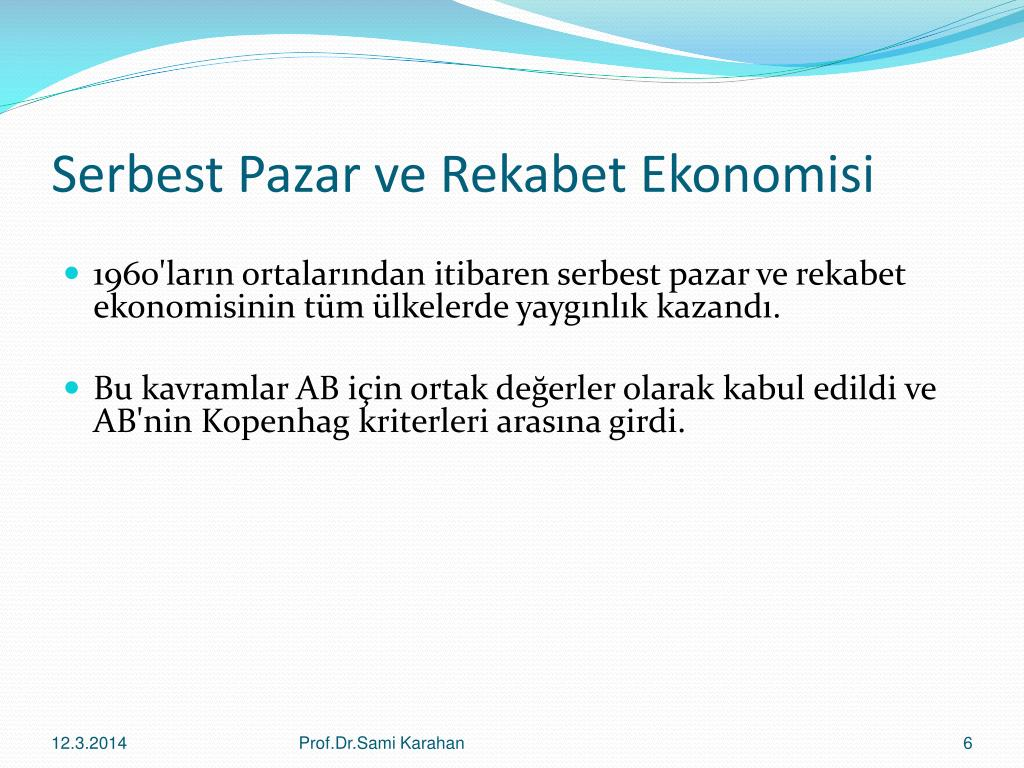 Serbest Pazar ve Rekabet Ekonomisi