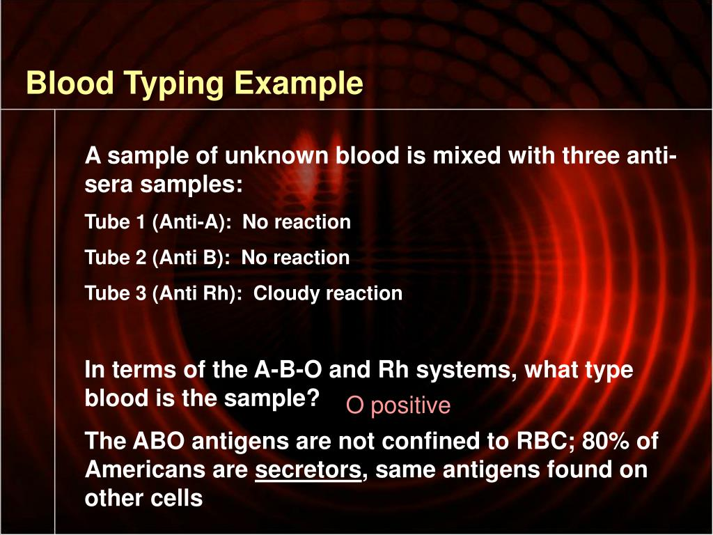 Blood Typing Example