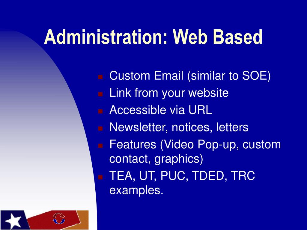 Administration: Web Based
