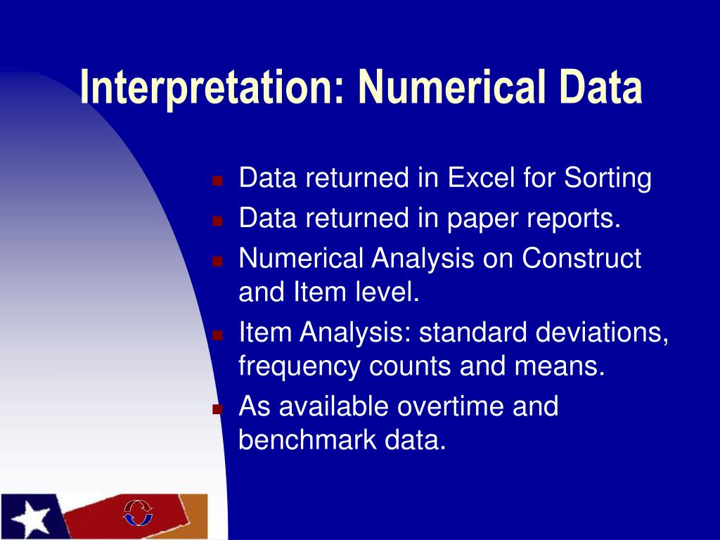 Interpretation: Numerical Data