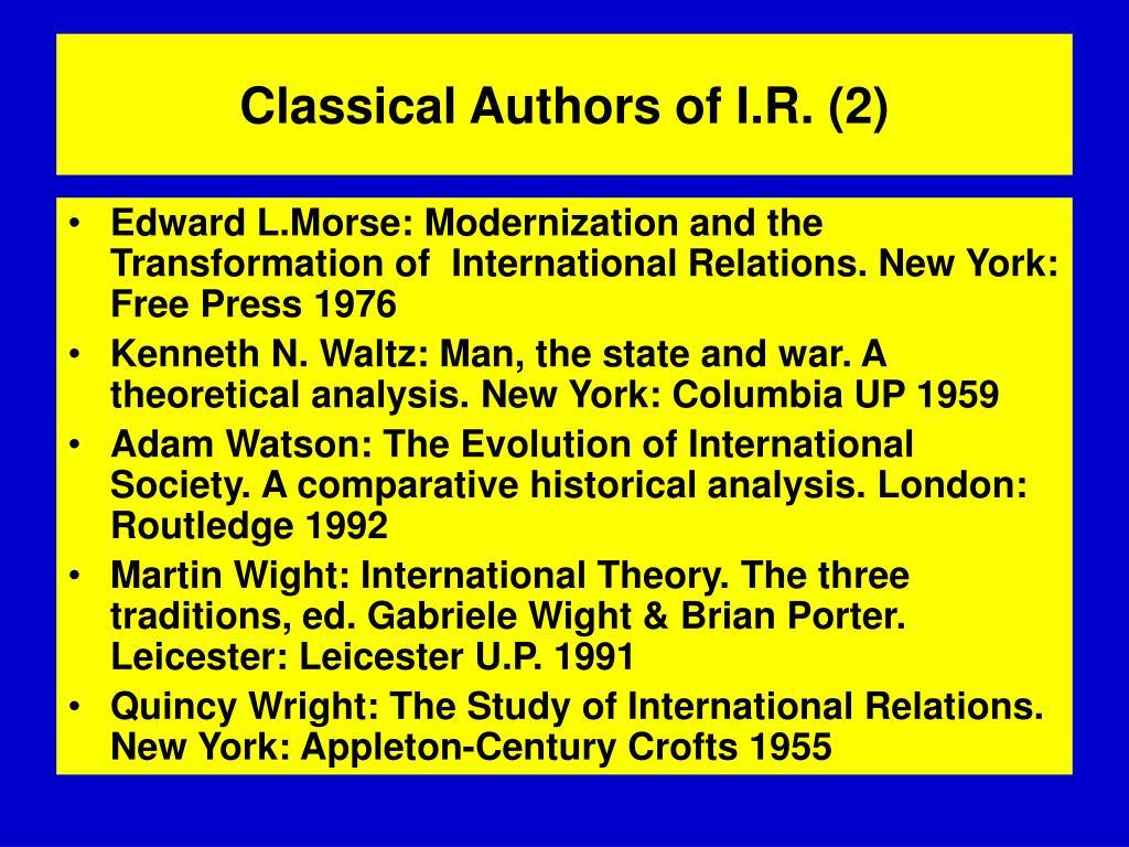Classical Authors of I.R. (2)