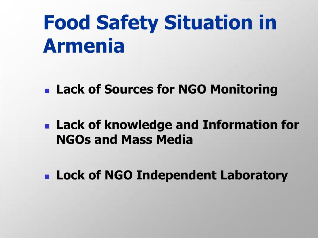 Food Safety Situation in Armenia