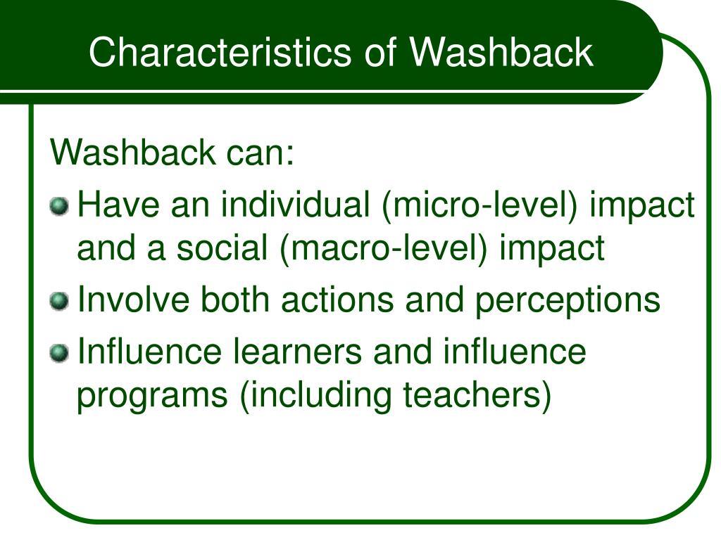 Characteristics of Washback