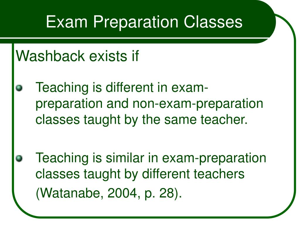 Exam Preparation Classes