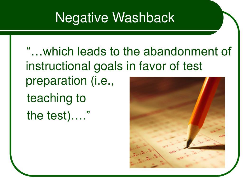 Negative Washback